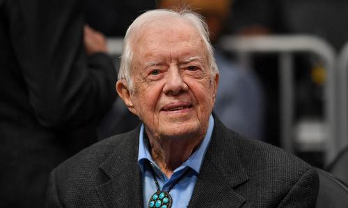 Cựu tổng thống Carter trong một sự kiện ở bang Georgia hồi tháng 2. Ảnh: USA Today.
