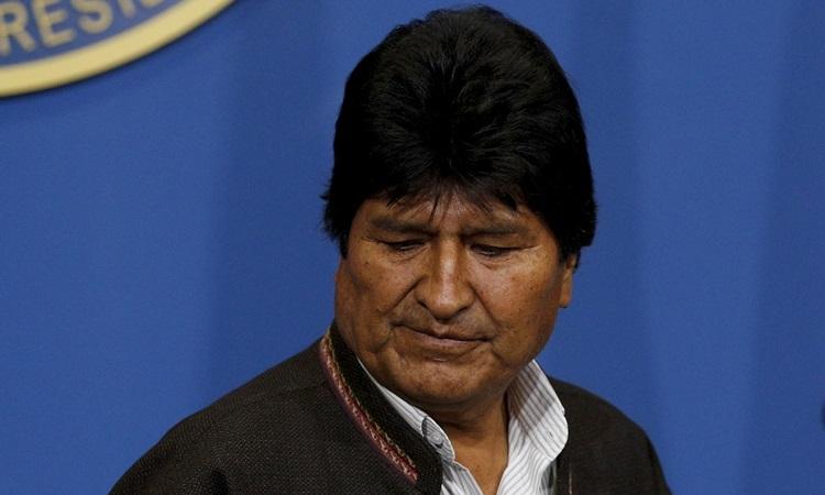 Cựu tổng thống Bolivia Evo Morales tại một cuộc họp báo ở thành phố El Alto ngày 10/11. Ảnh: Reuters.