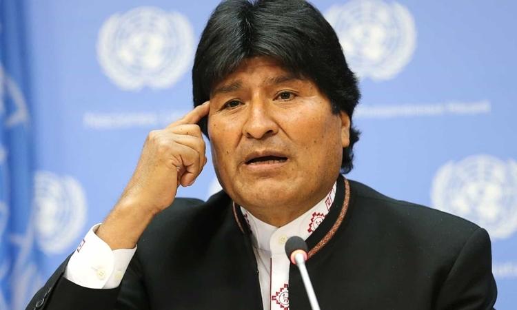 Evo Morales tại New York năm 2017. Ảnh: AFP.
