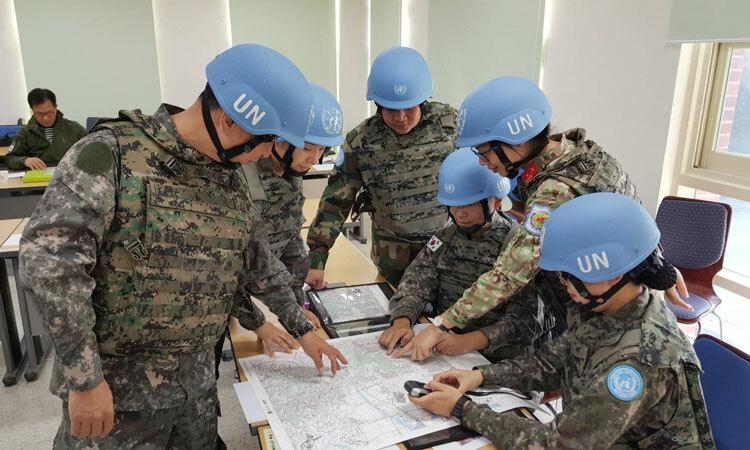 Hai tháng tập huấn ở Hàn Quốc cho chị Phương nhiều trải nghiệm về công việc quan sát viên quân sự. Ảnh: NVCC.