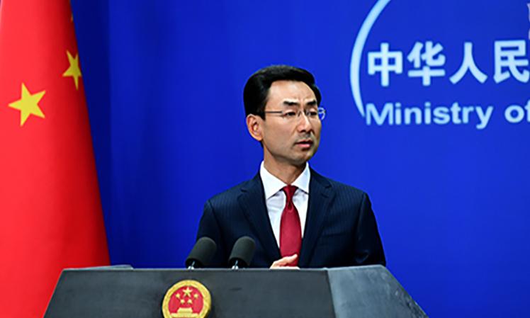 Người phát ngôn Bộ Ngoại giao Trung Quốc Cảnh Sảng tại họp báo ở Bắc Kinh ngày 1/10. Ảnh: Bộ Ngoại giao Trung Quốc.