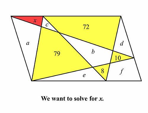 Thử sức với bài toán tính diện tích hình tam giác đỏ - page 2 - 2