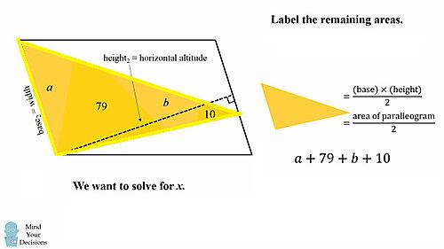 Thử sức với bài toán tính diện tích hình tam giác đỏ - page 2 - 4