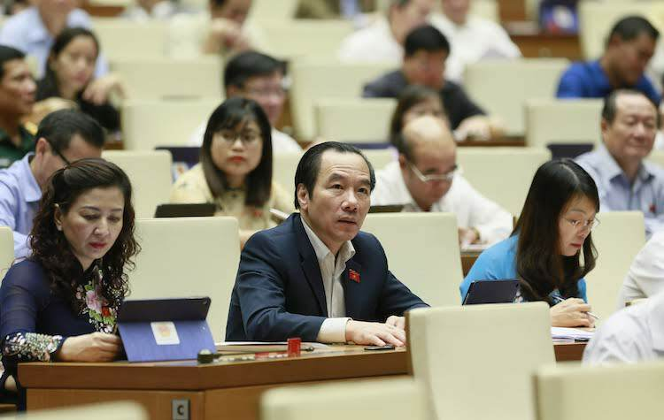 Đại biểu Quốc hội tại nghị trường. Ảnh: Ngọc Thắng