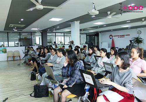 Khóa đào tạo giáo viên Montessori thu hút đông đảo các giáo viên trên toàn hệ thống tham dự