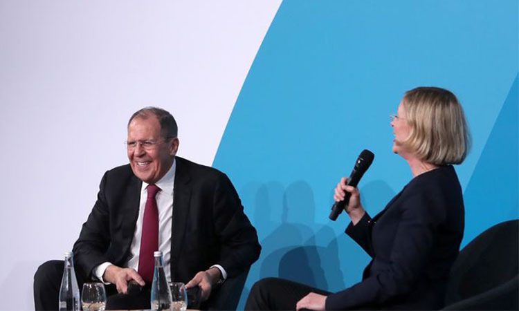 Ngoại trưởng Nga Lavrov tại Diễn đàn hòa bình Paris 2019 ngày 12/11. Ảnh: TASS.