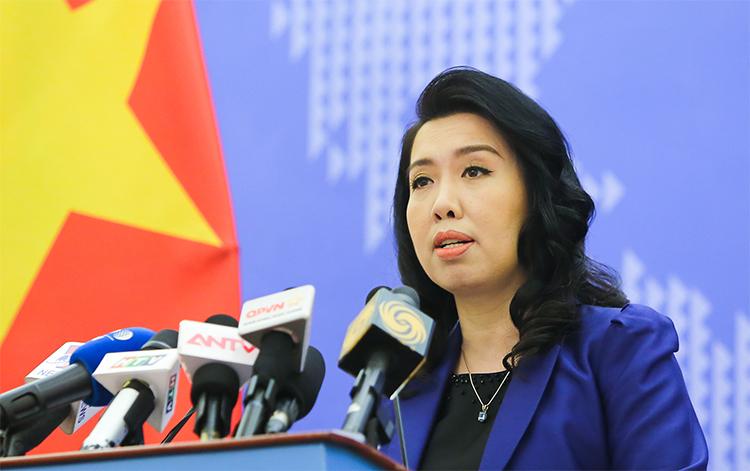 Người phát ngôn Bộ Ngoại giao Việt Nam Lê Thị Thu Hằng. Ảnh: Bộ Ngoại giao Việt Nam.