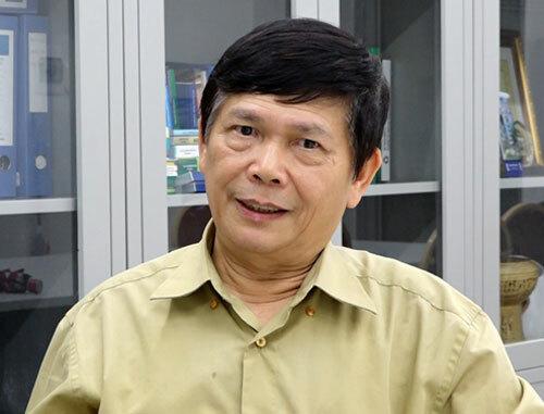 PGS.TS Trần Đức Hạ, Viện trưởng Viện nghiên cứu Cấp thoát nước và Môi trường. Ảnh: Trần Huấn.
