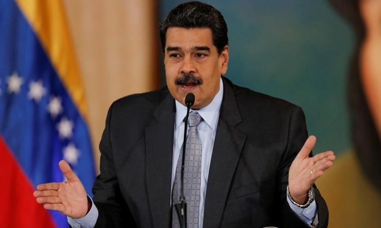 Tổng thống Venezuela Nicolas Maduro phát biểu tại một cuộc họp báo ở Caracas ngày 30/9. Ảnh: Reuters.