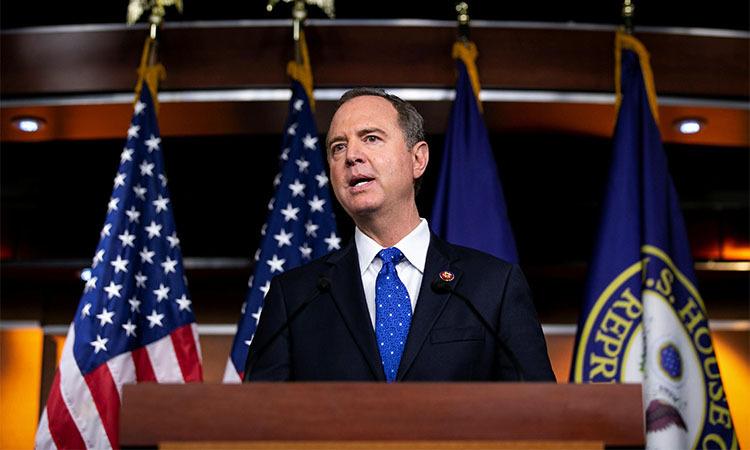 Chủ tịch Ủy ban tình báo Hạ viện Mỹ Adam Schiff phát biểu trong một cuộc họp ởWashington D.Cngày 25/9. Ảnh: Reuters.