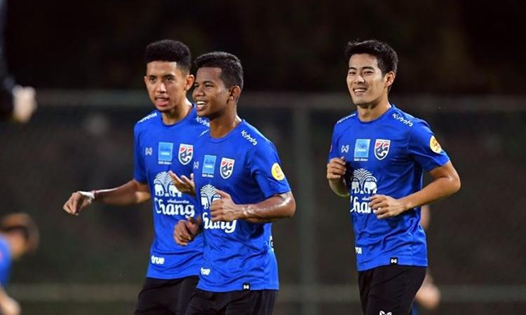 Thái Lan tập luyện tại Kuala Lumpur. Ảnh: AFC.