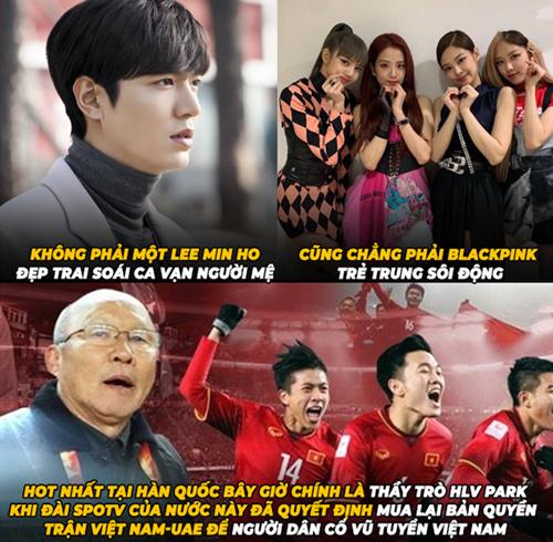 Giờ ở Hàn Quốc tuyển Việt Nam là số 1.