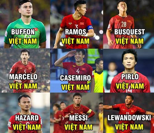 Những siêu sao của bóng đá Việt Nam.