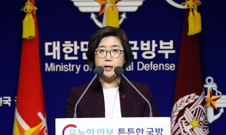 Phát ngôn viên Bộ Quốc phòng Hàn Quốc Choi Hyun-soo. Ảnh: Yonhap.
