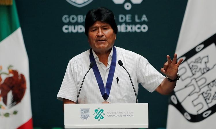 Evo Morales tại Mexico ngày 13/11. Ảnh: AFP.