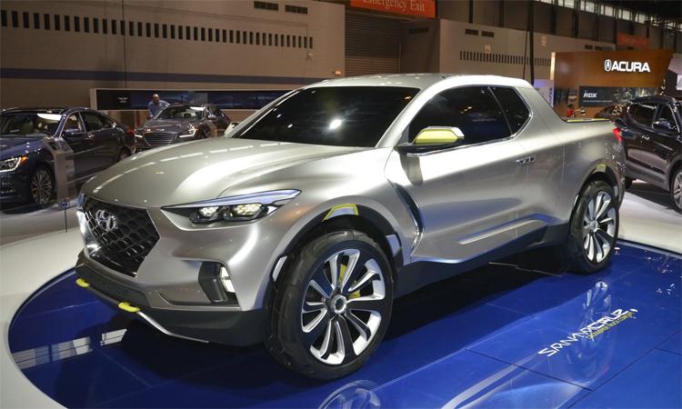 Hyundai Santa Cruz concept. Ảnh: Carscoops