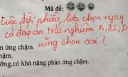 Lời phê 'mặn hơn muối' của cô giáo trong bài kiểm tra