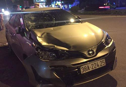 Ôtô gây tai nạn. Ảnh: H.G