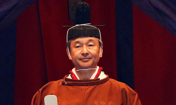 Nhật hoàng Naruhito tại lễđăng quang ở Cung điện Hoàng gia, Tokyo ngày 22/10. Ảnh: Reuters.