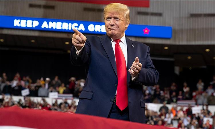 Tổng thống Mỹ Donald Trump trong buổi vận động tranh cử tại thành phố Bossier, bang Louisiana ngày 15/11. Ảnh: Fox