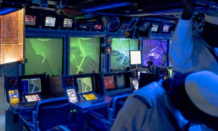 Trung tâm CIC của USS Princeton. Ảnh: US Navy.