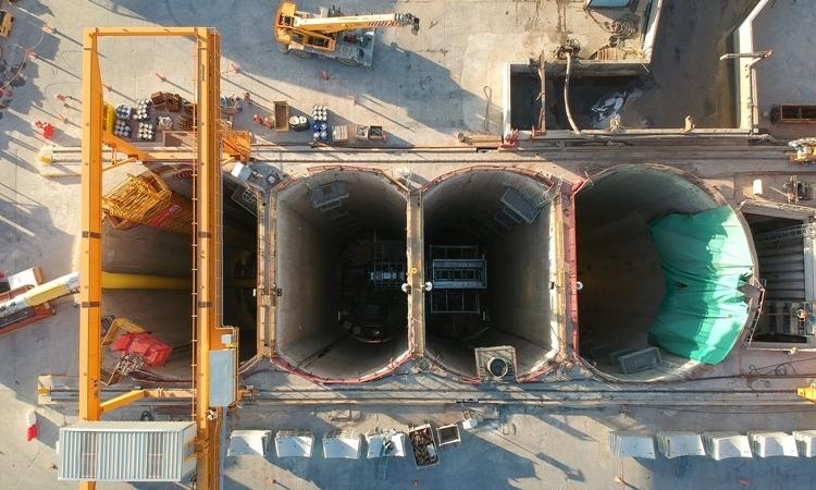 Công trình đường hầm được xây dựng để làm sạch sông Riachuelo của Argentina. Ảnh: Salini Impregilo.