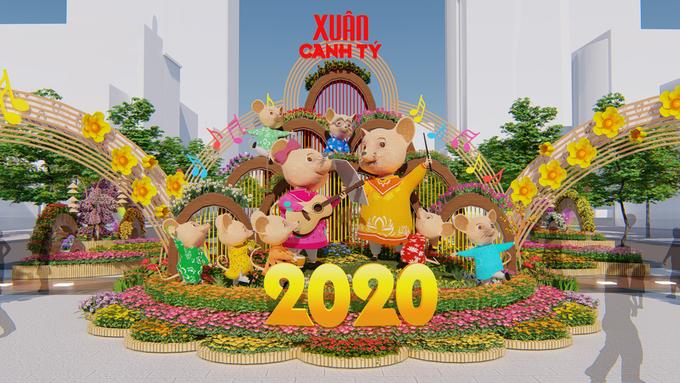 Đường hoa Nguyễn Huệ Tết Canh Tý 2020 sẽ thế nào