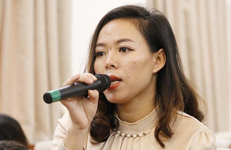 Cô Lương Thị Hòa. Ảnh: Thanh Hằng