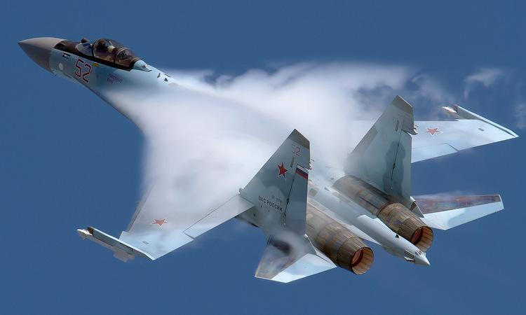 Tiêm kích Su-35S Nga biểu diễn tại triển lãm ở Moskva hồi tháng 8. Ảnh: Russian Planes.