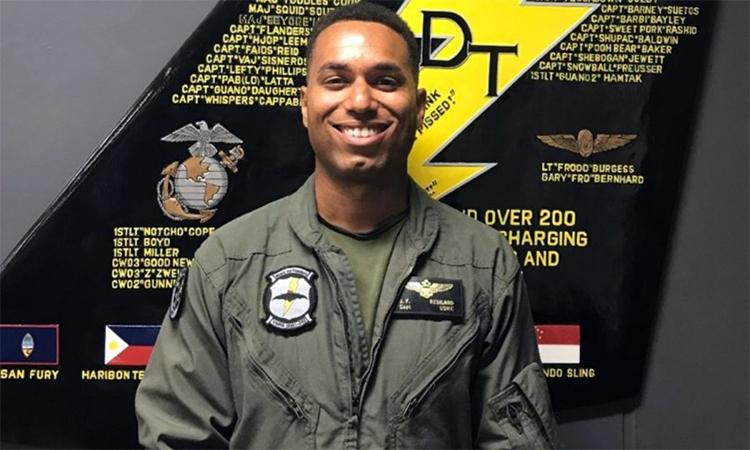 Đại úy Jahmar Resilard, phi công F/A-18D thiệt mạng sau vụ va chạm với máy bay tiếp liệu KC-130J ngoài khơi nhật bản tháng 12/2018. Ảnh: US Marine.