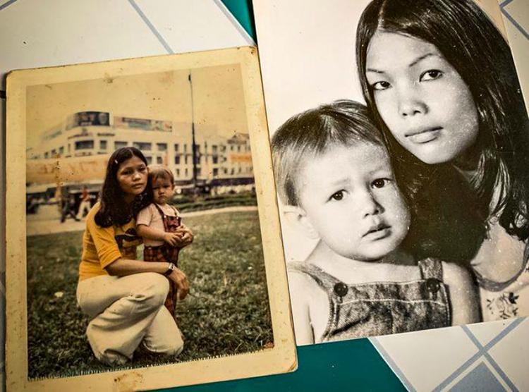 Những bức ảnh của Small và bà Đẹp ở Sài Gòn trước khi chia xa 44 năm. Ảnh: Next Shark/Van Pham