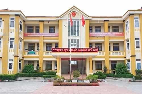 Trụ sở UBND xã Thạch Đài, nơi ông Hậu đang công tác. Ảnh: N.H