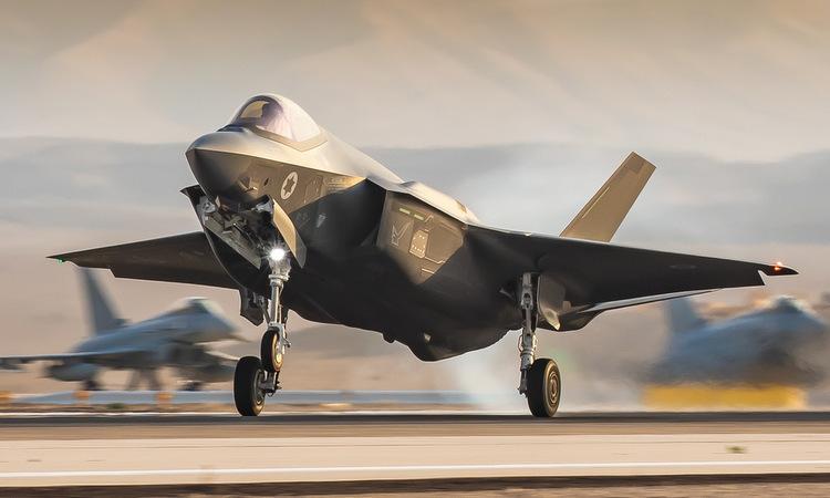 Tiêm kích F-35I cất cánh trong tập trận Blue Flag 2019. Ảnh: IAF.