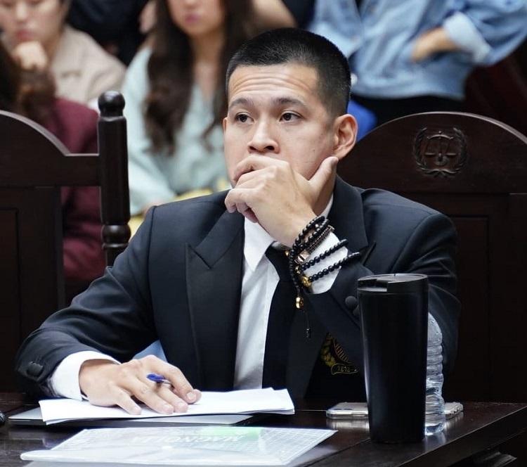 Đạo diễn Việt Tú tại phiên phúc thẩm. Ảnh: H.N.