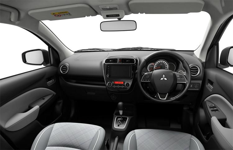 Nội thất kết hợp vật liệu mới, màn hình 7 inch. Ảnh: Mitsubishi
