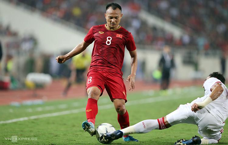 Trọng Hoàng, sinh năm 1989, sẽ là thành viên lớn tuổi nhất của U22 Việt Nam dự SEA Games 2019. Ảnh: Đức Đồng.