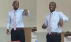 Thầy giáo dạy tiếng Anh bắn ráp trên bục giảng