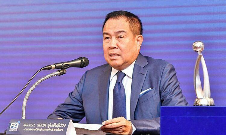 Chủ tịch FAT Somyot Poompanmoung không muốn gây áp lực lên HLV Nishino. Ảnh: Matichon.