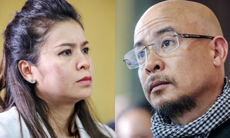 Bà Thảo và ông Vũ tại phiên xử ly hôn hồi tháng 3. Ảnh: Thành Nguyễn.