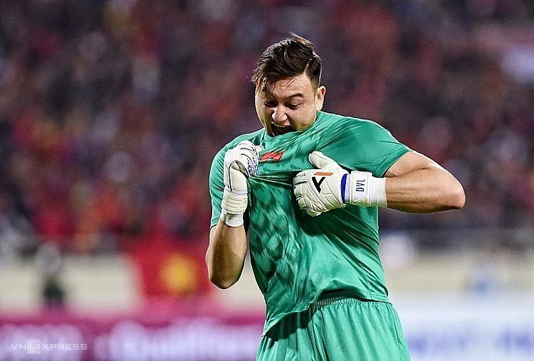 Văn Lâm bày tỏ tình yêu với đội tuyển sau trận đấu.