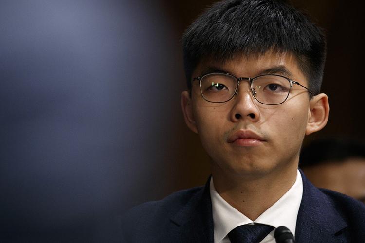 Thủ lĩnh phong trào ô dùJoshua Wong. Ảnh: AP