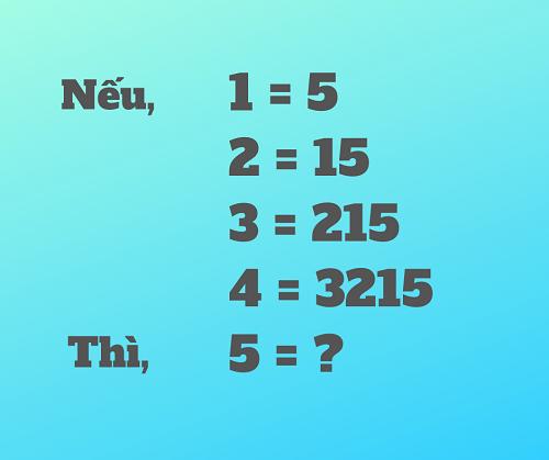 Bài toán đố mẹo khiến nhiều người chào thua, còn bạn?