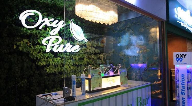 Quán bar Oxy Pure ở New Delhi, Ấn Độ. Ảnh: Gulf Times