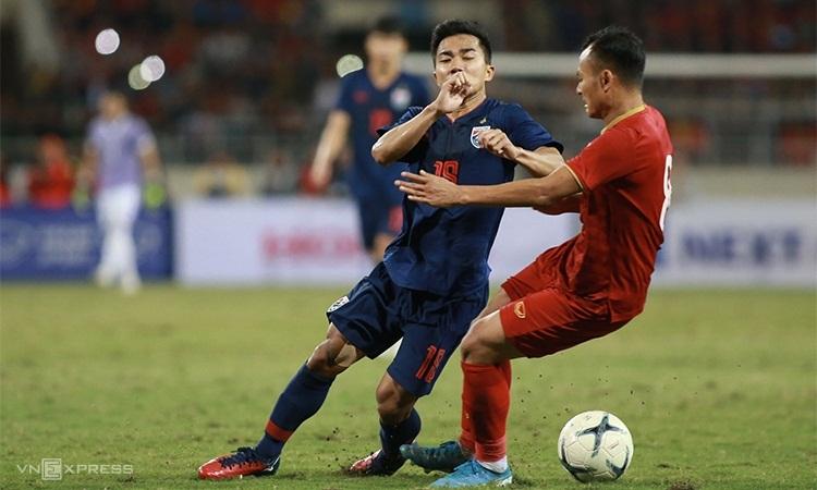 Việt Nam và Thái Lan lần thứ hai liên tiếp bất phân thắng bại. Ảnh: Lâm Thỏa.