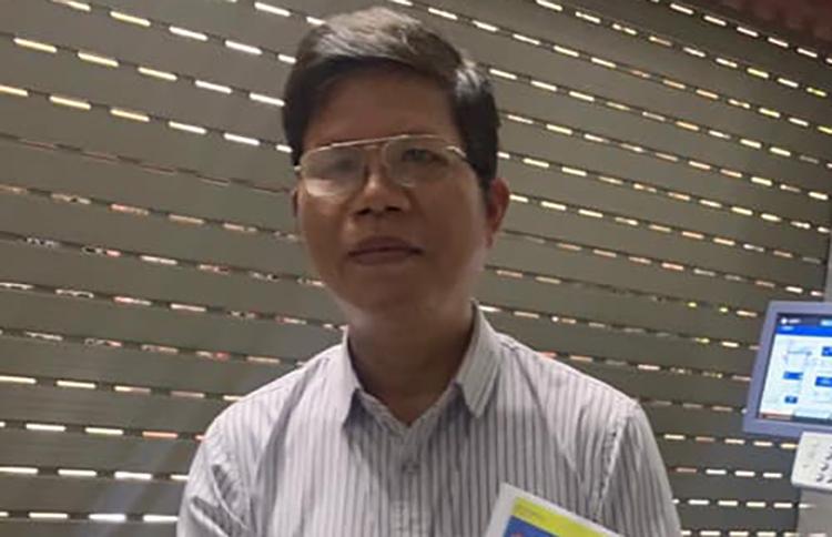 Nguyễn Khắc Ấn lúc bị bắt. Ảnh: Văn Hoàn.