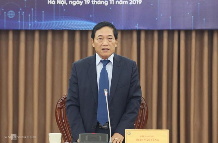 Thứ trưởng Trần Văn Tùng thông tin về Techfest Vietnam 2019. Ảnh: TL