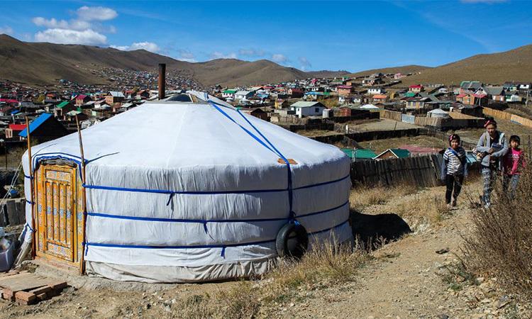 Một ngôi nhà ger truyền thống của người Mông Cổ. Ảnh: ADB.
