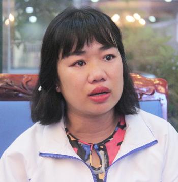 Cô Nguyễn Vân Nhi kể về lần bị sảy thai do đi lại đường xa. Ảnh: Thanh Hằng