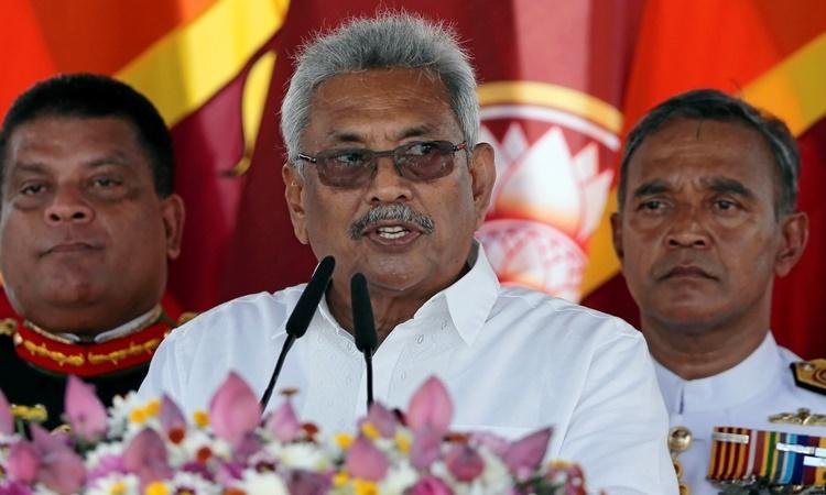 Tân Tổng thống Sri Lanka phát biểu nhậm chức ngày 18/11. Ảnh: Reuters.