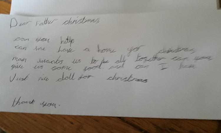 Lá thư của bé gái 7 tuổi người Anh được ủy viên hội đồng thành phố Livepool Woodhouse đăng tải. Ảnh: Fox News.